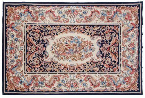 6×9 Aubusson Blue Oriental Rug 013926