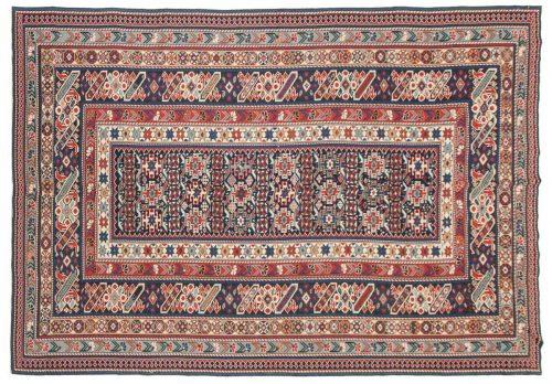 6×9 Shirvan Blue Oriental Rug 045227