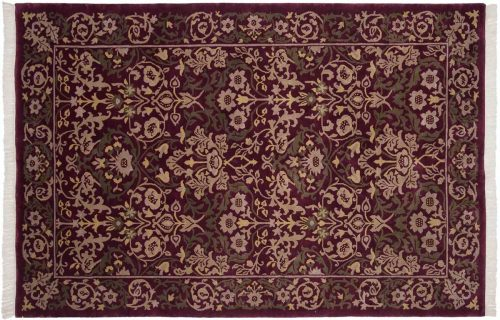 6×9 William Morris Burgundy Oriental Rug 037055
