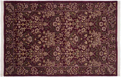 6×9 William Morris Burgundy Oriental Rug 037055