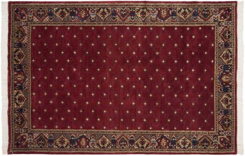 6×9 Architectural Burgundy Oriental Rug 038913
