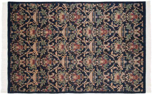 6×9 Damask Blue Oriental Rug 038075