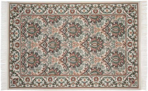 6×9 Damask Ivory Oriental Rug 031667
