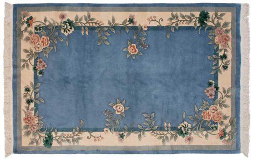 6×9 Floral Blue Oriental Rug 028673