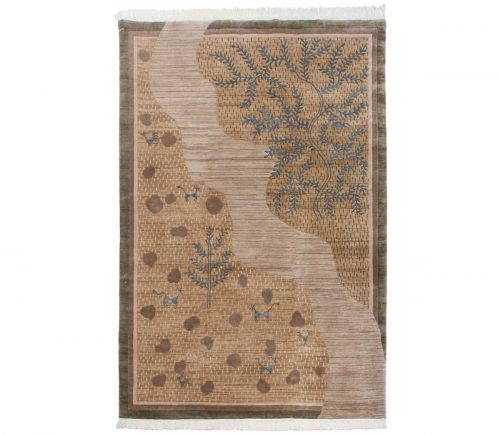 6×9 Folk Art Gold Oriental Rug 038912