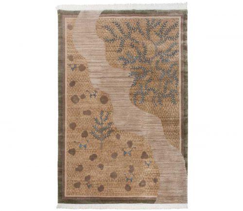 6×9 Folk Art Gold Oriental Rug 038912