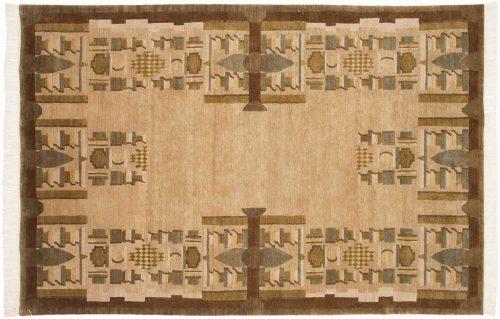 6×9 Folk Art Gold Oriental Rug 038916