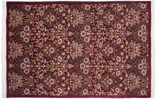 6×9 Modern Burgundy Oriental Rug 036769