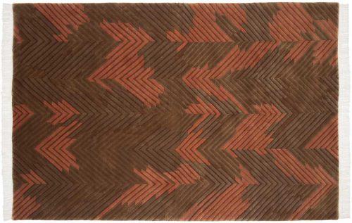 6×9 Geometric Rust Oriental Rug 037476