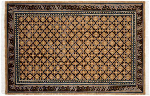 6×9 Diamond Gold Oriental Rug 036755