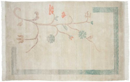 6×9 Tibetan Green Oriental Rug 018503