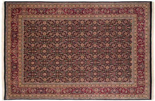 6×9 Herati Black Oriental Rug 030227