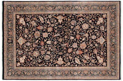 6×9 Isfahan Black Oriental Rug 042836