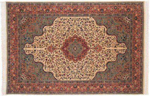 6×9 Isfahan Ivory Oriental Rug 019961