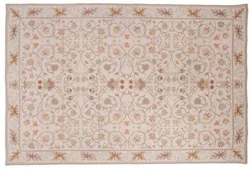6×9 Floral Ivory Oriental Rug 014337