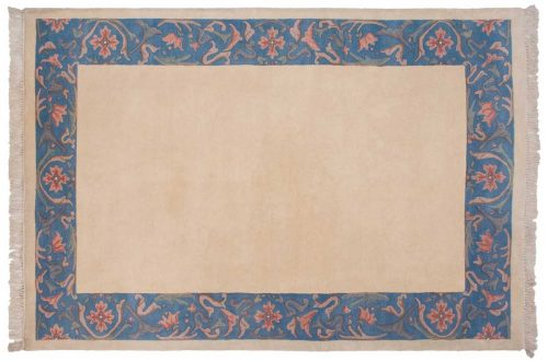 6×9 Decorative Ivory Oriental Rug 016140