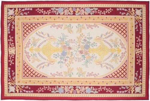 6×9 Vase Ivory Oriental Rug 019797