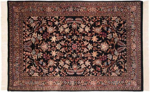 6×9 Kashan Black Oriental Rug 031853