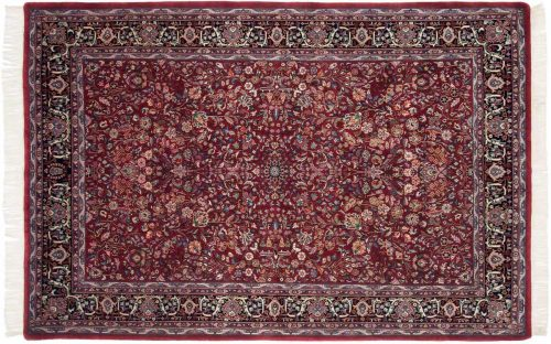 6×9 Kashan Burgundy Oriental Rug 031255