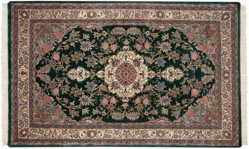 6×9 Kashan Green Oriental Rug 031076