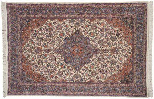 6×9 Kashan Ivory Oriental Rug 030762