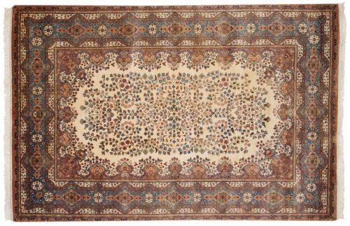 6×9 Kerman Ivory Oriental Rug 017045