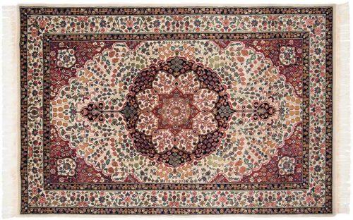 6×9 Kerman Ivory Oriental Rug 031609