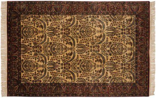 6×9 Kerman Ivory Oriental Rug 032414
