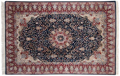 6×9 Mashad Blue Oriental Rug 015643