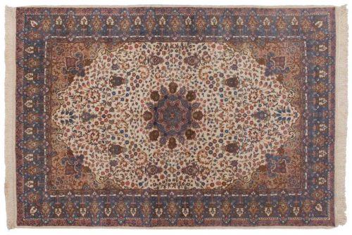6×9 Mashad Ivory Oriental Rug 016203
