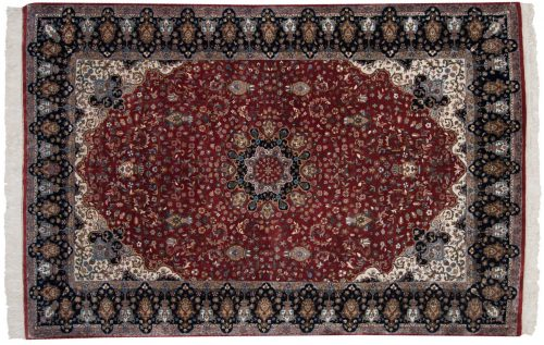 6×9 Mashad Red Oriental Rug 016112