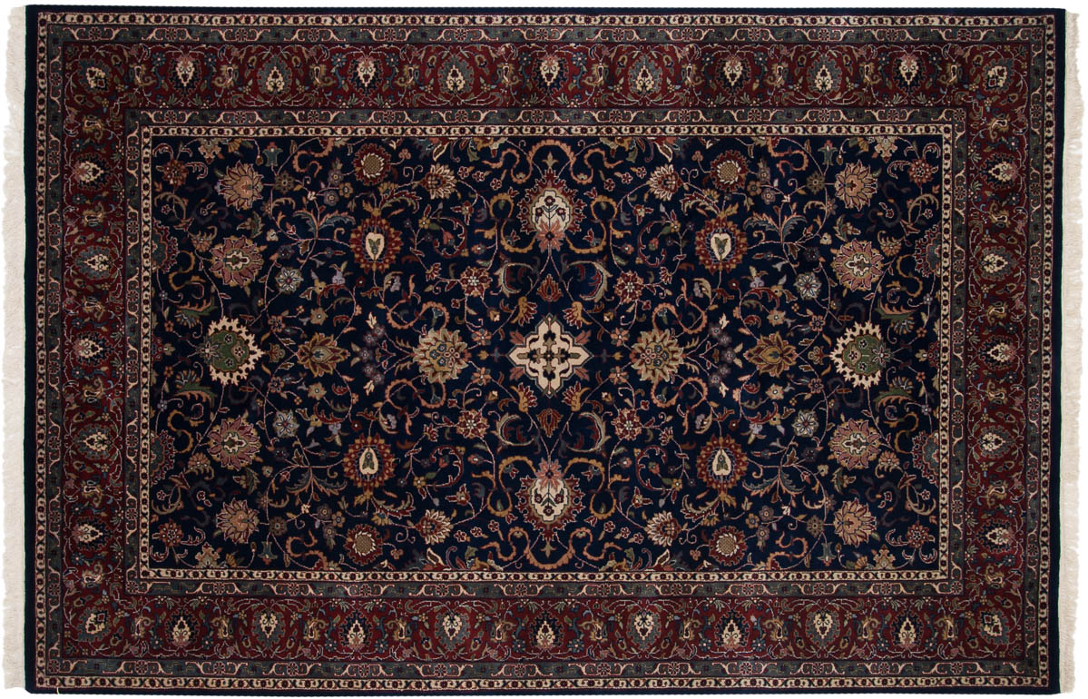 6x9 Meshed Blue Oriental Rug 024943