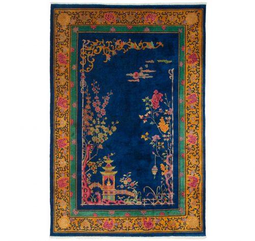 6×9 Nichols Blue Oriental Rug 013991