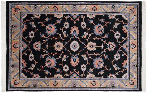 6×9 Oushak Black Oriental Rug 016806