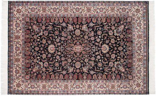 6×9 Isfahan Black Oriental Rug 025662