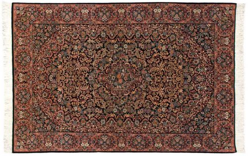 6×9 Isfahan Black Oriental Rug 025776