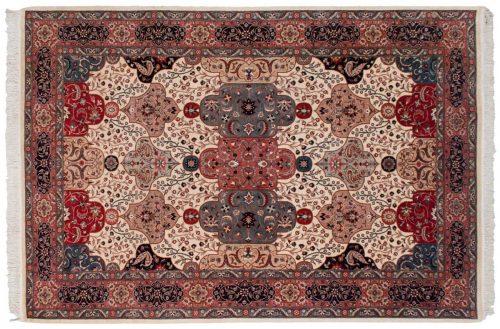 6×9 Persian Ivory Oriental Rug 021566