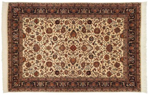 6×9 Persian Ivory Oriental Rug 025361