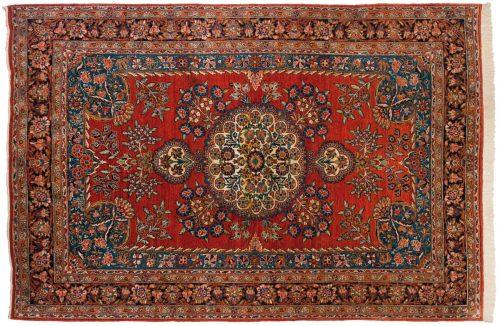 6×9 Persian Josan Red Oriental Rug 011210