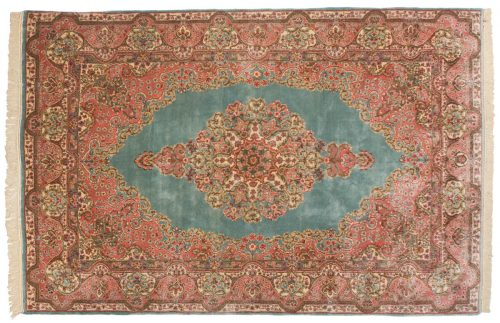 6×9 Persian Kerman Blue Oriental Rug 017496