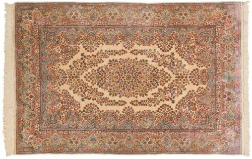 6×9 Persian Kerman Ivory Oriental Rug 017539
