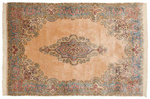 6×9 Persian Kerman Peach Oriental Rug 017406