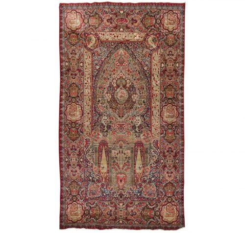 6×9 Persian Kerman Red Oriental Rug 013616