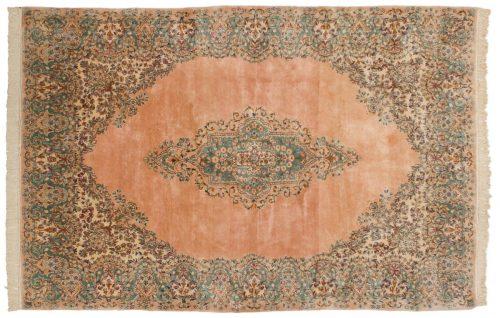 6×9 Persian Kerman Rose Oriental Rug 017520