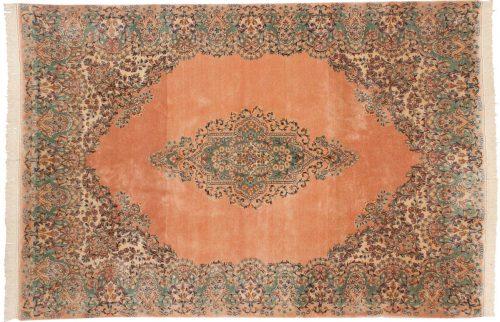 6×9 Persian Kerman Rose Oriental Rug 017521
