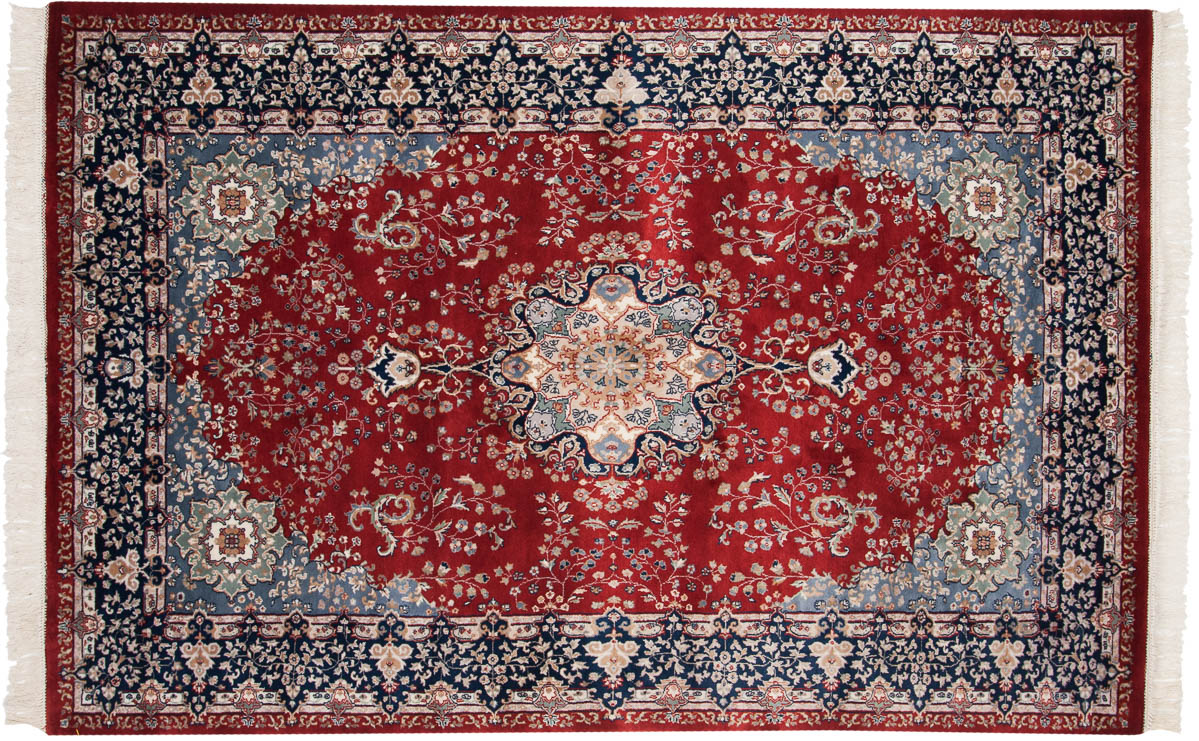 6x9 Persian Red Oriental Rug 024338