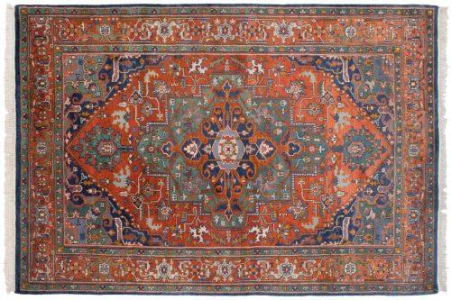 6×9 Lilihan Rust Oriental Rug 012488