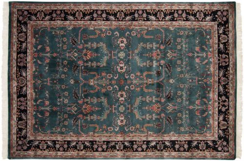 6×9 Sarouk Teal Oriental Rug 031037