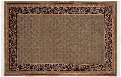 6×9 Savonnerie Beige Oriental Rug 037552