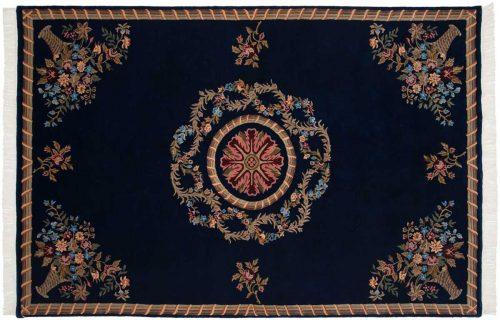 6×9 Savonnerie Blue Oriental Rug 038252